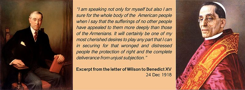 Excerpt from the letter of Woodrow Wilson to Benedict XV.