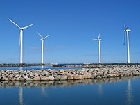 Windmills at the shore of denmark