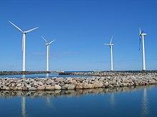 fünf flügelige windmühle