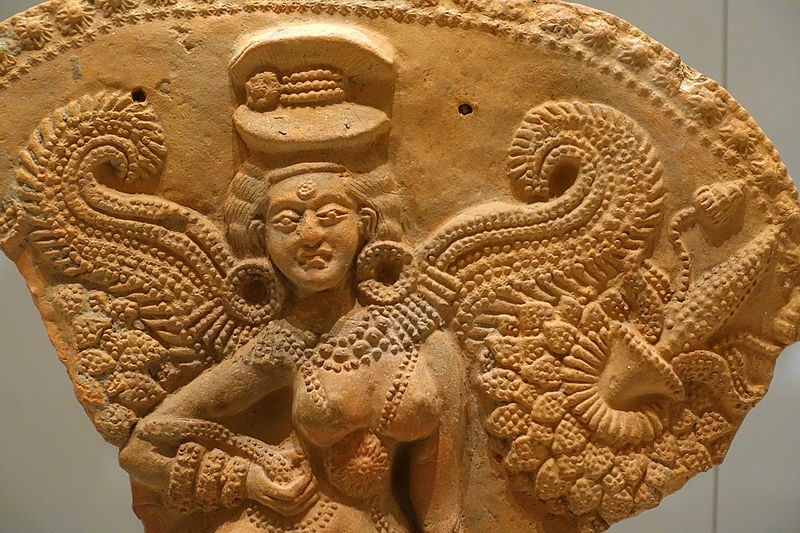File:Winged female deity, Chandraketugarh, India, 2nd-1st century BC, terracotta, view 2 - Ethnological Museum, Berlin - DSC01685.JPG