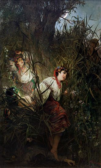 """Rusalka - Witold Pruszkowski """"Rusałki"""" 1877"""
