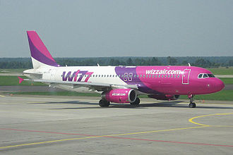 Low-cost carrier - Wizz Air Airbus A320 at Katowice International Airport