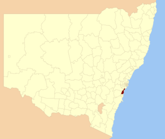 City of Wollongong - Location in NSW