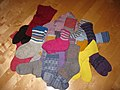 Woolen socks on the floor.JPG