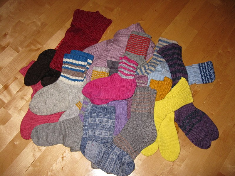 File:Woolen socks on the floor.JPG