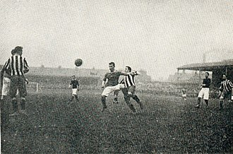 Victoria Ground - The Victoria Ground hosted seven FA Cup semi-finals, one of these was this in 1906, between Woolwich Arsenal and Newcastle United.