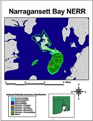 Narragansett Bay National Estuarine Research Reserve - Image: Wpdms ner naragan dm