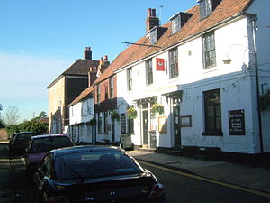 Wrotham - The George and Dragon pub, on the High Street