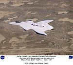 X-36 in Flight over Mojave Desert DVIDS695811.jpg