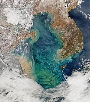 Yellow Sea - Image: Yellow Sea, February 24, 2015