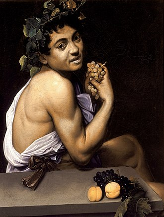 Chronology of works by Caravaggio - Image: Young Sick Bacchus Caravaggio (1593)