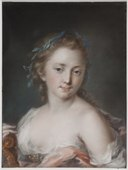 Young Woman with a Wreath of Laurels (Rosalba Carriera) - Nationalmuseum - 23948.tif