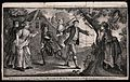 Young men and women are playing blind man's buff. Engraving Wellcome V0040186.jpg