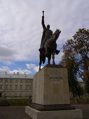 Executionist movement - Statue of Execution movement supporter Chancellor Jan Zamoyski in Zamość