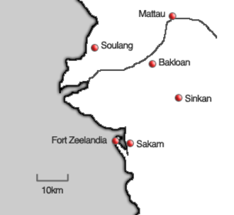 Dutch pacification campaign on Formosa - The villages around Fort Zeelandia