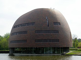 LOFAR - The 'Zernikeborg' building, which houses the University of Groningen's computing center