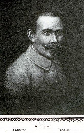 Juozas Zikaras - Juozas Zikaras, from  Lietuvos albumas (1921)