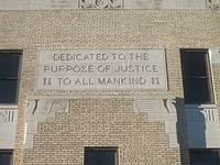 """Justice to All Mankind"", Perryton, TX IMG 6027"