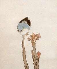 'Bird on Branch' (detail) by Ren Yu (1854-1901), dated 1870.jpg