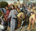 'The Arrest of Christ', oil on panel painting by the Master of the Evora Altarpiece, c. 1500, Museu de Évora, Portugal.JPG