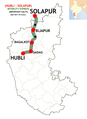 (Hubli - Solapur) Intercity Express route map.png