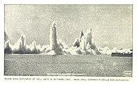 Sprengung des Flood Rock 1885