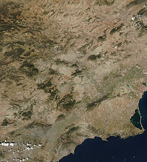 (Region of Murcia) IberianPeninsulaNASA (cropped).jpg