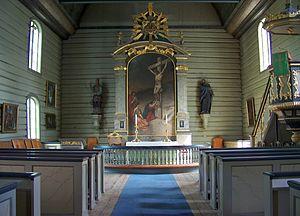 Østre Porsgrunn Church - Østre Porsgrunn Church interior