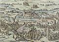 Übergabe von Schloß Bedwer 1584 Kupferstich von 1588 Braun Hogenberg.jpg