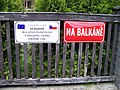 Šestajovice, Na Balkáně, označení.jpg