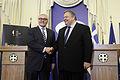 Συνάντηση Αντιπροέδρου της Κυβέρνησης και ΥΠΕΞ Ευ. Βενιζέλου με ΥΠΕΞ Γερμανίας F.W. Steinmeier (11859360816).jpg