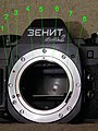 Адаптер на фотоаппарате Зенит-АМ2.JPG