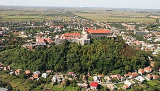 Mukachevo City in Zakarpattia Oblast, Ukraine