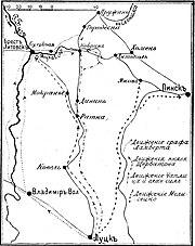 Карта-схема к статье «Кобрин». Военная энциклопедия Сытина (Санкт-Петербург, 1911-1915).jpg