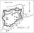 Карта-схема к статье «Колывано-Кузнецкая пограничная линия». Бийск, 1823 год. Военная энциклопедия Сытина (Санкт-Петербург, 1911-1915).jpg