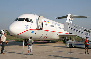 Tupolev Tu-334 - A Tu-334 at the 2007 MAKS Airshow, Moscow