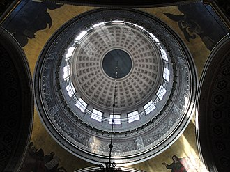 Kazan Cathedral, Saint Petersburg - Interior view of the dome