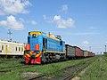 ТЭМ18ДМ-3123, Казахстан, Карагандинская область, станция Радиоузел (Trainpix 133188).jpg