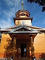 Церковь Николая Чудотворца, вход и колокольня, нач. ХХ в. улица Куликова, 90, Листвянка, Иркутский район.jpg