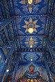 วัดร่องเสือเต้น เพดานด้านบนในอุโบสถ.jpg
