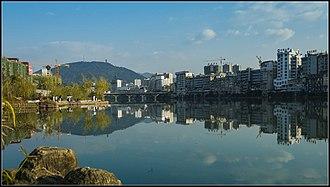 Luotian County - Yishui River in downtown Luotian