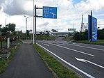 北海道道63号函館空港線・空港ターミナルビル取付道路交点-1(空港ターミナルビル側から).jpg