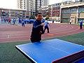 雁塔 陕师大附中分校在打乒乓球 12.jpg