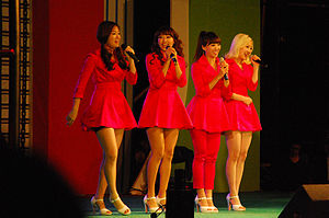 Sistar - Sistar performing at the Daejon University Festival in 2010