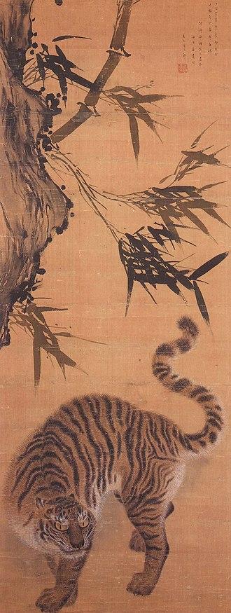 Tigers in Korean culture - Image: 죽하맹호도