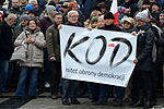 02016-01 Teilnehmer einer KOD-Demonstration in Bielsko-Biala