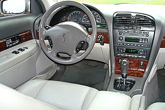 Lincoln LS - Instrument panel and dash area of a 2002 Lincoln LS: Other model years are similar.