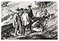 075 Ausschnitt aus dem Bilde - Jagdszene bei der Hinterpreggenhube (nördl. Leoben), Johann Max Tendler, 1860.jpg