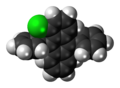 1-Chloro-9,10-diphenylanthracene molecule spacefill.png