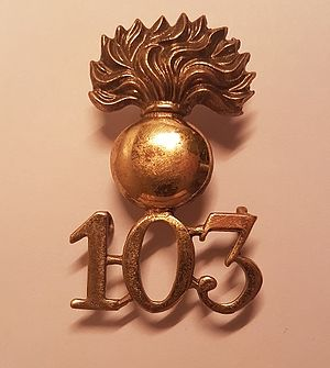 103rd Regiment of Foot (Royal Bombay Fusiliers) - Cap badge of the 103rd Regiment of Foot (Royal Bombay Fusiliers)